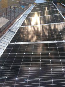 Bau einer Solarananlage